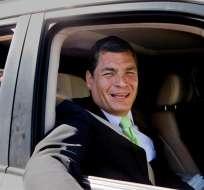El presidente Rafael Correa cuestionó la posible financiación de la agencia de noticias Tamia News por parte del estadounidense Fondo Nacional por la Democracia. Foto: EFE.