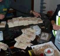 Los narcotraficantes enviaban la droga a Estados Unidos y Europa.