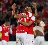 El equipo de Bogotá venció eliminó al Morelia de México en el repechaje de Copa Libertadores. Foto: EFE