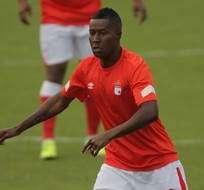 BOGOTÁ, Colombia.- Édison Méndez se alista para el juego copero con el Independiente Santa Fe.
