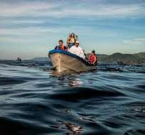 Los pescadores estuvieron desaparecidos durante nueve días en el Océano Pacífico.