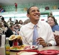 Obama dice que espera que los chefs de la Casa Blanca les den clases para hacer comida mexicana.