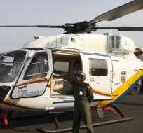 ECUADOR. Los cuerpos de los tres militares fallecidos en el accidente ya fueron recuperados y están siendo velados. Foto: Internet