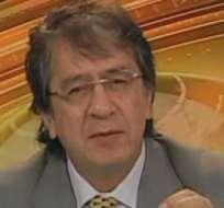 QUITO, Ecuador.- Galo Mora durante su entrevista en Contacto Directo. Foto: Ecuavisa