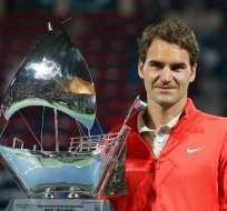 Roger Federer vence a Tomas Berdych y gana su sexto título en Dubai. Foto: EFE