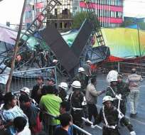 Luto en Bolivia tras las muerte de 4 personas en el carnaval de Oruro. Foto: Diario La Razón