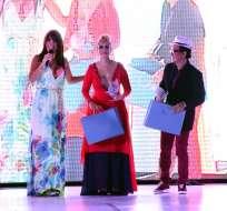 """La actriz María Fernanda Ríos de """"El Combo Amarillo"""" debutó en el mundo del diseño y recibió una placa como Talento Revelación."""