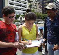 ECUADOR.- Yasunidos, que comenzó la recolección de firmas hace cinco meses, presentará en abril la lista. Fotos: API