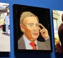 George W. Bush retrata a Aznar, Calderón y Uribe en su estreno como pintor. Foto: EFE