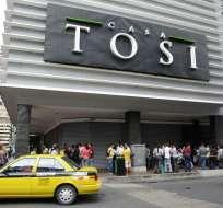 Casa Tosi tiene deudas con proveedores por 4 millones de dólares. Foto: API