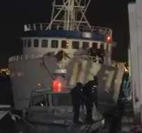 """Justicia ecuatoriana resolvió devolver a Panamá el barco """"Doria""""."""