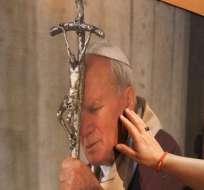 Los cristianos que se oponen a que Juan Pablo II sea santo. Foto: EFE