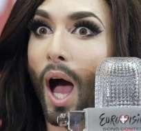 Conchita Wurst ganó este sábado el Festival Eurovisión 2014. Foto: EFE