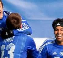Christian Noboa anotó uno de los goles con los que su equipo ganaba 4-2 al Zenit. Foto: EFE