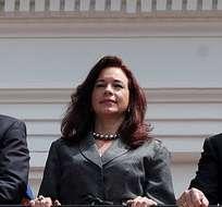 QUITO, Ecuador.- Los secretarios de defensa de Ecuador, Perú y Colombia participaron también del cambio de guardia en el Palacio de Carondelet. Foto: Presidencia de la República