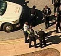EE.UU.- Imágen de un tirotero pasado en una escuela de Atlanta. Foto: EFE