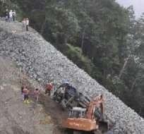 AZUAY, Ecuador.- Según la Agencia de Regulación y Control Minero, un 30% de material está en riesgo de desprenderse. Foto: La Hora