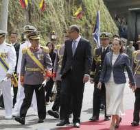 El anuncio fue realizado por el jefe del Comando Conjunto, general Luis Garzón, en la ceremonia por la Batalla de Pichincha. Foto: API