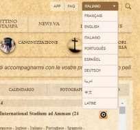 El sitio web del Vaticano incorpora desde hoy el árabe en sus idiomas.