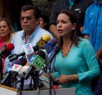 Machado rechaza acusación de magnicidio contra Maduro y acudirá a Fiscalía. Foto: EFE