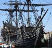 """El barco de """"Piratas del Caribe"""" se hunde en aguas caribeñas."""