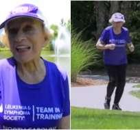 EE.UU.- Harriette Thompson ha participado en esta competencia desde 1998, excepto en 2012 tras una operación. Fotos capturadas de YouTube
