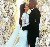 Esta es la foto de Kim Kardashian y Kanye West que rompió récord en Instagram. Foto: Instagram.