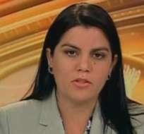 QUITO, Ecuador.- Lorena Tapia durante su entrevista en Contacto Directo. Foto: Ecuavisa