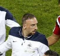 Ribery aún no se recupera de la lumbalgia.