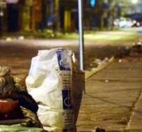 Unos 5.580 indigentes duermen en las calles de la Ciudad Maravillosa.