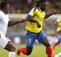 Felipe Caicedo formó parte de la selección ecuatoriana en el Mundial. Foto: EFE.