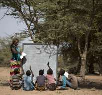 La mayor cantidad de niños sin escolarizar vive en África. Foto: EFE
