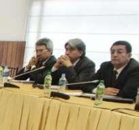 QUITO, Ecuador.- Este viernes los representantes de la cooperativas fueron recibidos en la Comisión de Régimen Económico. Foto: API