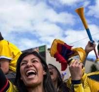 Ley seca en Colombia durante el partido con Brasil (Fuente: EFE)
