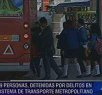 Emergencia de transporte en Quito deja 49 detenidos
