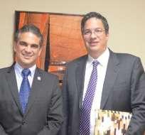 Los ministros de Comercio Exterior de ambos países se reunieron esta tarde en Quito. Foto: Ministerio de Comercio Exterior Ecuador