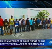 El pasado viernes la Policía detuvo a los 17 integrantes de la banda de narcotráfico que operaba en una mecánica.