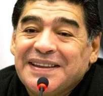 Diego Armando Maradona, exjugador y entrenador de la selección argentina de fútbol (Foto: Internet)