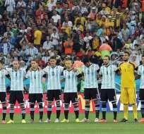 Argentina fue multada por no asistir a la rueda de prensa con un jugador y el técnico. Foto: EFE