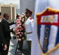 Raúl Castro se reúne con el vicepresidente Glas y refuerzan cooperación. Foto: EFE