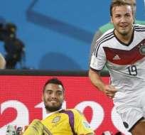 Gotze logró romper la paridad ante Argentina. Foto: EFE.