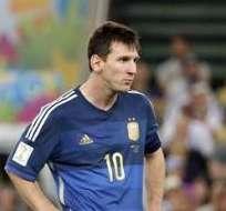 El Mundial sigue siendo esquivo a Messi. Foto: EFE.
