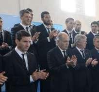 "La Presidenta agradeció a la ""Albiceleste"". Foto: EFE."