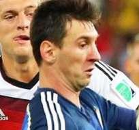 Messi no pudo ganar el Mundial. Foto: EFE.
