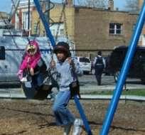 Archivo.-  Durante una época, madres latinas tenían miedo de llevar a sus hijos al parque por temor a la patrulla fronteriza. Foto: Jaime Reyes/HOY.