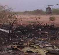 Localizada la segunda caja negra del avión siniestrado en Mali. Foto: EFE