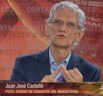 GUAYAQUIL, Ecuador.- Juan José Castelló durante su entrevista en Contacto Directo. Foto: Ecuavisa
