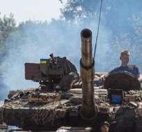 Según los rebeldes, la ofensiva contaba con 25 tanques, numerosos blindados y fuego de artillería. Foto: EFE.