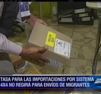 Familiares de ecuatorianos que viven en el exterior y que envían paquetes bajo el sistema 4x4 no tendrán que pagar el impuesto.