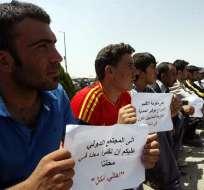 Los cristianos desplazados en Irak solo desean volver a casa. Foto: EFE